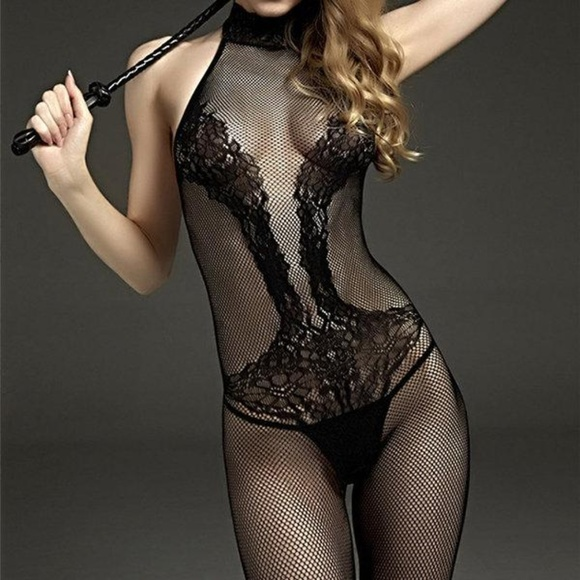 75ce85ab340 Sexy Black Sheer Lace Body Stocking